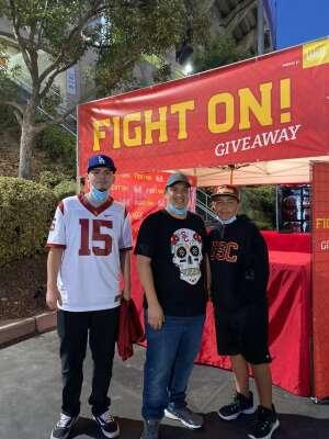 Sergio P.  attended USC Trojans vs. Stanford Cardinal - NCAA Football on Sep 11th 2021 via VetTix