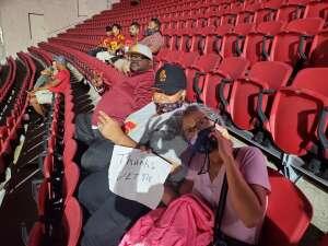 Stevie Stallings  attended USC Trojans vs. Stanford Cardinal - NCAA Football on Sep 11th 2021 via VetTix