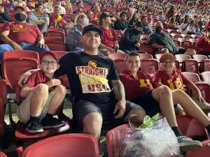 Trevor  Lopez attended USC Trojans vs. Stanford Cardinal - NCAA Football on Sep 11th 2021 via VetTix