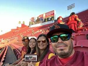 Oscar Medina attended USC Trojans vs. Stanford Cardinal - NCAA Football on Sep 11th 2021 via VetTix