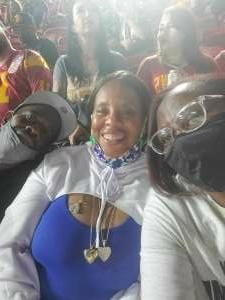 Aya attended USC Trojans vs. Stanford Cardinal - NCAA Football on Sep 11th 2021 via VetTix