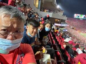 Kristina attended USC Trojans vs. Stanford Cardinal - NCAA Football on Sep 11th 2021 via VetTix