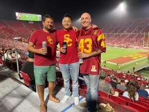 Jay attended USC Trojans vs. Stanford Cardinal - NCAA Football on Sep 11th 2021 via VetTix