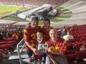 A. Marquez attended USC Trojans vs. Stanford Cardinal - NCAA Football on Sep 11th 2021 via VetTix