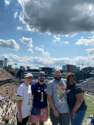 Joe  attended Georgia Tech. Yellow Jackets vs. Kennesaw State Owls - NCAA Football on Sep 11th 2021 via VetTix