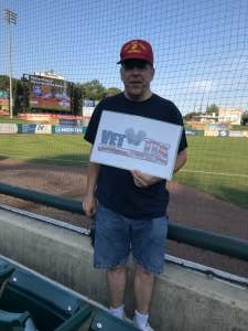 Patrick McDonald attended Jersey Shore Blueclaws Vs. Greensboro Grasshoppers - MiLB on Sep 11th 2021 via VetTix