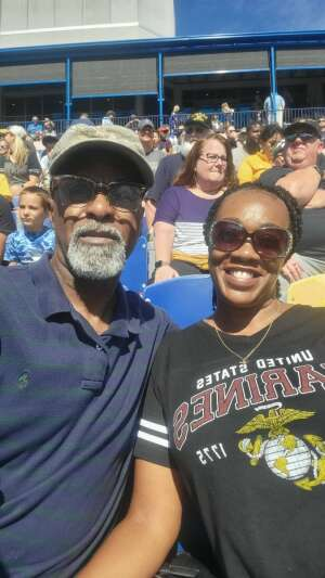 Great Day for a Football Game!!! attended Navy Midshipman vs. Marshall - NCAA Football on Sep 4th 2021 via VetTix