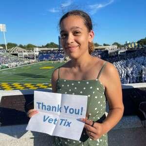 Shanaya attended Navy Midshipman vs. Marshall - NCAA Football on Sep 4th 2021 via VetTix