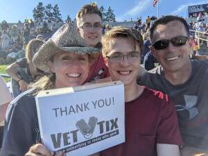 Juli attended Navy Midshipman vs. Marshall - NCAA Football on Sep 4th 2021 via VetTix