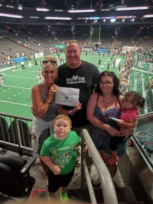 Geoff & Jewels attended IFL Playoffs Round 2 - Arizona Rattlers V. Duke City Gladiators on Sep 5th 2021 via VetTix