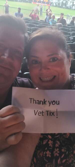 Jim & LIsa engaged at the concert attended Brooks & Dunn Reboot 2021 Tour on Sep 16th 2021 via VetTix