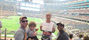 Langham Family attended Allstate Kickoff Classic - Stanford Cardinals vs. Kansas State Wildcats - NCAA Football on Sep 4th 2021 via VetTix