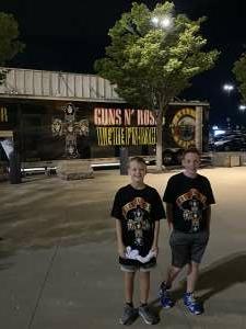 Brian attended Guns N' Roses 2021 Tour on Sep 8th 2021 via VetTix