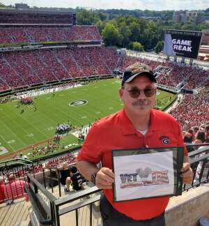 Jim attended University of Georgia Bulldogs vs. University of Alabama at Birmingham Blazers - NCAA Football on Sep 11th 2021 via VetTix
