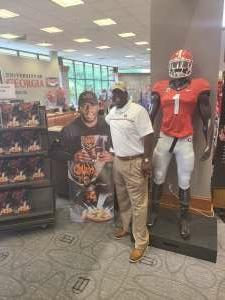 Guye B Akins  attended University of Georgia Bulldogs vs. University of Alabama at Birmingham Blazers - NCAA Football on Sep 11th 2021 via VetTix