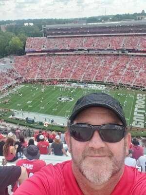 Marcie Floyd attended University of Georgia Bulldogs vs. University of Alabama at Birmingham Blazers - NCAA Football on Sep 11th 2021 via VetTix
