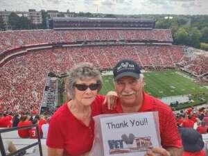 Jerry &  Bobbie attended University of Georgia Bulldogs vs. University of Alabama at Birmingham Blazers - NCAA Football on Sep 11th 2021 via VetTix
