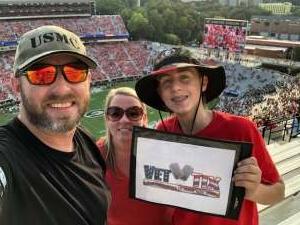 Brian attended University of Georgia Bulldogs vs. University of Alabama at Birmingham Blazers - NCAA Football on Sep 11th 2021 via VetTix