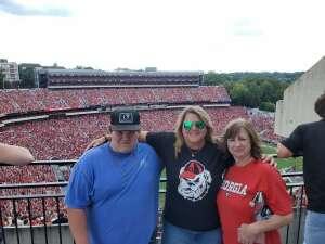 Cindy Nervo attended University of Georgia Bulldogs vs. University of Alabama at Birmingham Blazers - NCAA Football on Sep 11th 2021 via VetTix