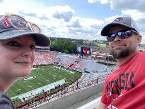 Al and Jenn attended University of Georgia Bulldogs vs. University of Alabama at Birmingham Blazers - NCAA Football on Sep 11th 2021 via VetTix