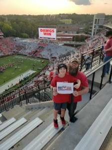 Casey attended University of Georgia Bulldogs vs. University of Alabama at Birmingham Blazers - NCAA Football on Sep 11th 2021 via VetTix
