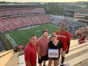 Bruce attended University of Georgia Bulldogs vs. University of Alabama at Birmingham Blazers - NCAA Football on Sep 11th 2021 via VetTix