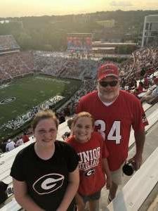 Bob attended University of Georgia Bulldogs vs. University of Alabama at Birmingham Blazers - NCAA Football on Sep 11th 2021 via VetTix