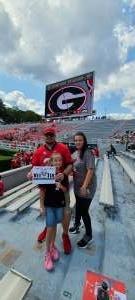 Brandon Holcomb attended University of Georgia Bulldogs vs. University of Alabama at Birmingham Blazers - NCAA Football on Sep 11th 2021 via VetTix
