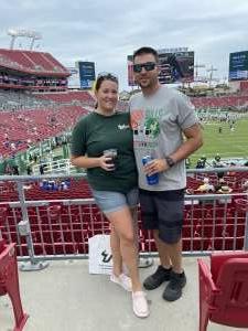 Jamie attended University of South Florida Bulls vs. Florida Gators - NCAA Football on Sep 11th 2021 via VetTix