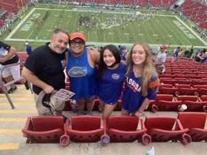 RM attended University of South Florida Bulls vs. Florida Gators - NCAA Football on Sep 11th 2021 via VetTix