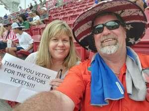 Kev  attended University of South Florida Bulls vs. Florida Gators - NCAA Football on Sep 11th 2021 via VetTix