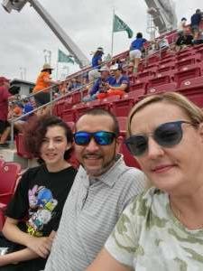 Joanna attended University of South Florida Bulls vs. Florida Gators - NCAA Football on Sep 11th 2021 via VetTix