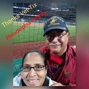 F Lopez USMC attended Philadelphia Phillies vs. Pittsburgh Pirates - MLB on Sep 23rd 2021 via VetTix