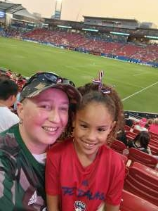 Stephanie Giles attended FC Dallas vs. San Jose Earthquakes - MLS - Military and 1st Responder Appreciation Game (see Notes) on Sep 11th 2021 via VetTix