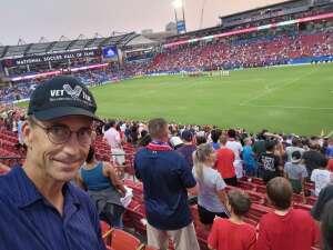 Darren Bullard attended FC Dallas vs. San Jose Earthquakes - MLS - Military and 1st Responder Appreciation Game (see Notes) on Sep 11th 2021 via VetTix
