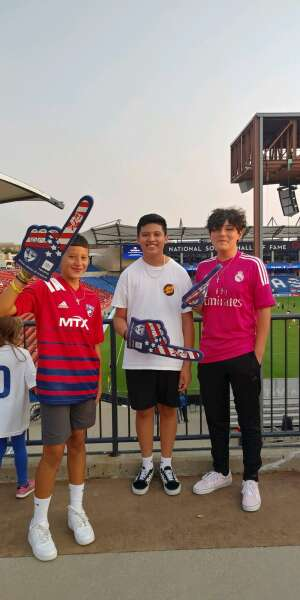 Emmett attended FC Dallas vs. San Jose Earthquakes - MLS - Military and 1st Responder Appreciation Game (see Notes) on Sep 11th 2021 via VetTix