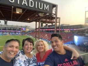 Milton Bernal attended FC Dallas vs. San Jose Earthquakes - MLS - Military and 1st Responder Appreciation Game (see Notes) on Sep 11th 2021 via VetTix