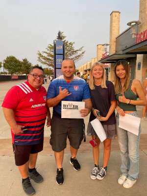 Carlos Barba and friends attended FC Dallas vs. San Jose Earthquakes - MLS - Military and 1st Responder Appreciation Game (see Notes) on Sep 11th 2021 via VetTix