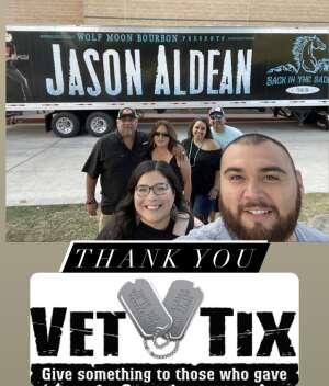 Benny Jaramillo attended Jason Aldean: Back in the Saddle Tour 2021 on Sep 11th 2021 via VetTix