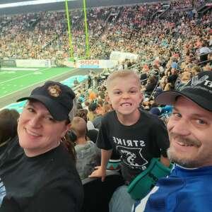 Ben Andree attended IFL United Bowl Arizona Rattlers V. Massachusetts Pirates on Sep 12th 2021 via VetTix