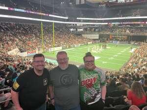 Ken attended IFL United Bowl Arizona Rattlers V. Massachusetts Pirates on Sep 12th 2021 via VetTix