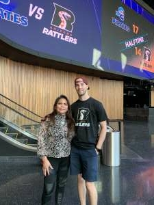 Janice attended IFL United Bowl Arizona Rattlers V. Massachusetts Pirates on Sep 12th 2021 via VetTix