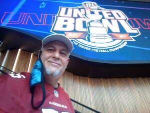 Retired Navy Vet James M. murray attended IFL United Bowl Arizona Rattlers V. Massachusetts Pirates on Sep 12th 2021 via VetTix
