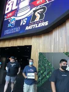 Willis attended IFL United Bowl Arizona Rattlers V. Massachusetts Pirates on Sep 12th 2021 via VetTix