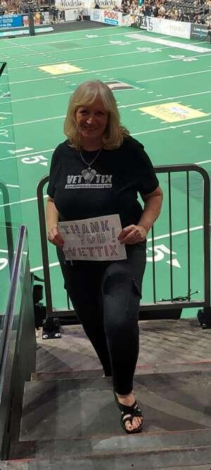 Debbie attended IFL United Bowl Arizona Rattlers V. Massachusetts Pirates on Sep 12th 2021 via VetTix