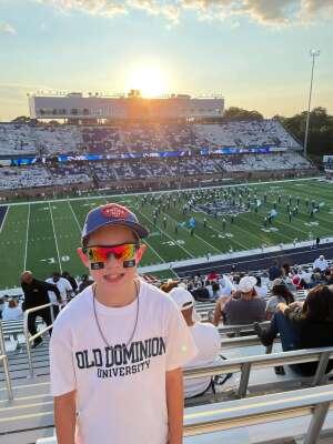 Munoz attended Old Dominion Monarchs vs. Hampton Pirates - NCAA Football on Sep 11th 2021 via VetTix