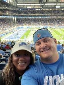 Andrew  attended Detroit Lions vs. San Francisco 49ers - NFL on Sep 12th 2021 via VetTix