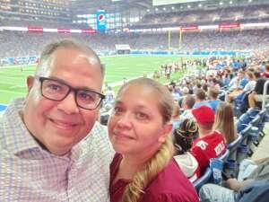 Juan Ramos attended Detroit Lions vs. San Francisco 49ers - NFL on Sep 12th 2021 via VetTix