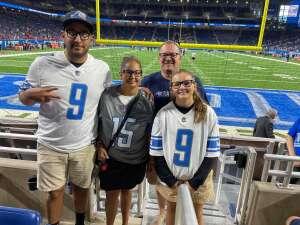 Ben attended Detroit Lions vs. San Francisco 49ers - NFL on Sep 12th 2021 via VetTix