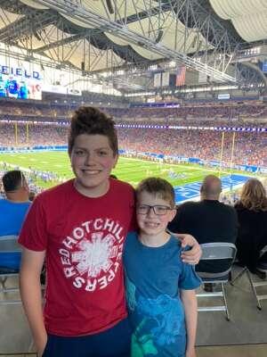 Clayton attended Detroit Lions vs. San Francisco 49ers - NFL on Sep 12th 2021 via VetTix